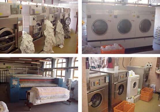 pračky, sušičky a žehličky v priemysle